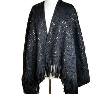 Jackets & Blazers - NWOT IMAN Sequinned Shawl/Cape